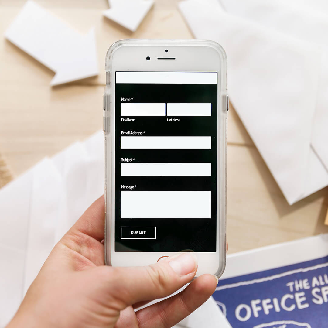 Mobile Contact Us Form